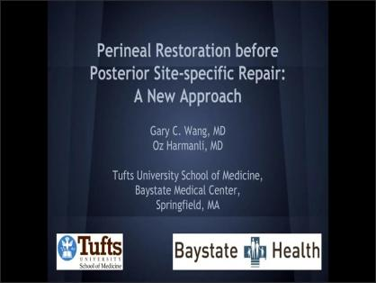 PERINEAL RESTORATION BEFORE SITE-SPECIFIC REPAIR: A NEW APPROACH